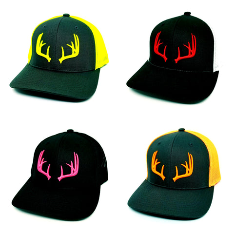 3D Large Antler Logo Flex Fit Caps