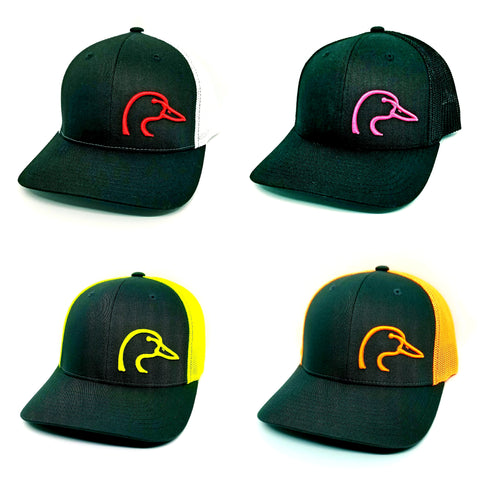3D Duck Head Logo Flex Fit Caps