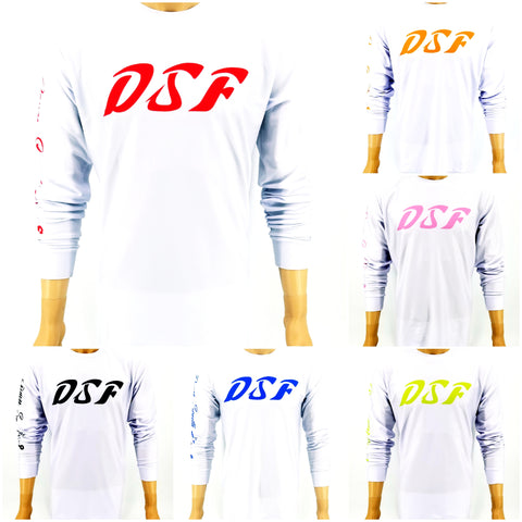 DSF White Series Jersey Feel Performance Fishing Shirts