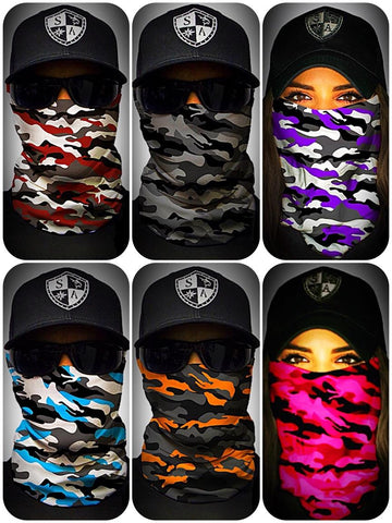 SA Fishing Face Shields - Camo