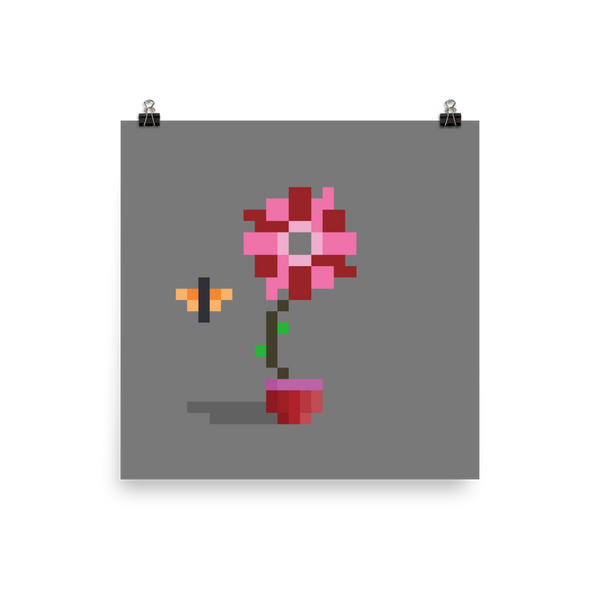 PRINT - Pixel Flowers #794 Joy