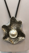 Silver Abstract Pearl-licious Necklace