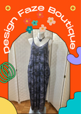 Periwinkle blue camo print dress