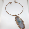 Handcrafted copper wrapped Agate stone necklace