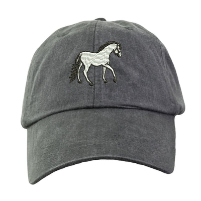 Horse Hat - Embroidered. Horse Hat.  Equestrian Horse Back Riding Hat. Adjustable Leather Strap. More Colors. HER-LP101 - Whynotstopnshop.com