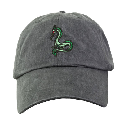 Dragon Hat - Embroidered. Dragon Cap.  Mythical Creature Hat. Adjustable Leather Strap. More Colors. HER-LP101 - Whynotstopnshop.com