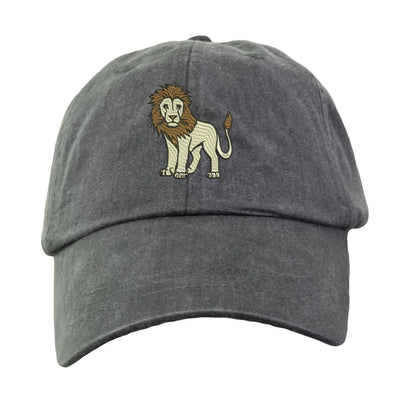 Lion Hat - Embroidered. Lion Cap. Zoo Jungle Animal Hat. King Of The Jungle Hat. Adjustable Leather Strap. More Colors. HER-LP101 - Whynotstopnshop.com