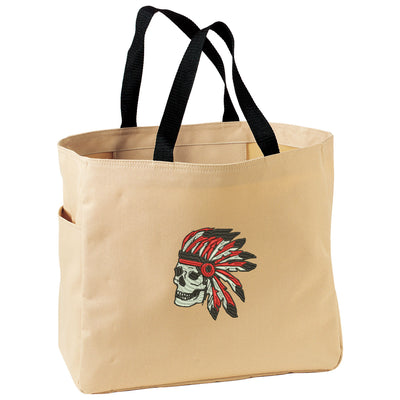 Indian Skull Bag. Embroidered Native American Tote. Horse Tote Bag. Market Tote. Shopping Indian Skull Bag. SM-B0750 - Whynotstopnshop.com