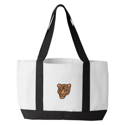 Bengal Tiger Tote Bag. Embroidered Tiger Tote. Bengal Tiger Tote Bag. Animal Lover Tote. Tiger Tote Bag. Tiger Bag.  7002 - Whynotstopnshop.com