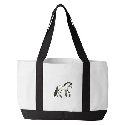 Horse Tote Bag. Embroidered Horse Tote. Horse Tote Bag. Animal Lover Tote. Horse Tote Bag. Horse Bag. Riding Bag.   7002 - Whynotstopnshop.com