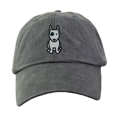 Bull Terrier - Embroidered. Dog Lover Hat. Baseball Hat Cap. Embroidered Hat. Cool Mesh Lining & Adjustable Leather Strap. LP101 - Whynotstopnshop.com