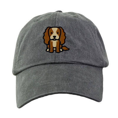 Cavalier King Charles Spaniel  Embroidered. Dog Lover Hat. Baseball Hat Cap. Embroidered. Cool Mesh Lining & Adjustable Leather Strap. LP101 - Whynotstopnshop.com