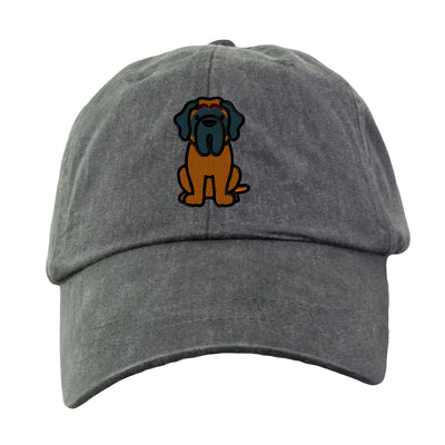 English Mastiff - Embroidered. Dog Lover Hat. Baseball Hat Cap. Embroidered Hat. Cool Mesh Lining & Adjustable Leather Strap. LP101 - Whynotstopnshop.com