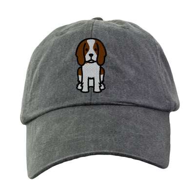 English Springer Spaniel - Embroidered. Dog Lover Hat. Baseball Hat Cap. Embroidered Hat. Cool Mesh Lining & Adjustable Leather Strap. LP101 - Whynotstopnshop.com