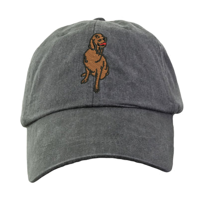 Golden Retriever Hat - Embroidered. Golden Retriever Gift. Cool Mesh Lining & Adjustable Leather Strap. 15 Colors Avail. HER-LP101 - Whynotstopnshop.com