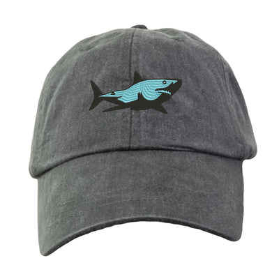 Great White Shark Baseball Hat - Embroidered.  Great White Shark Cap. Shark Gifts.  Shark Beach Hat. Love Sharks. HER-LP101 - Whynotstopnshop.com