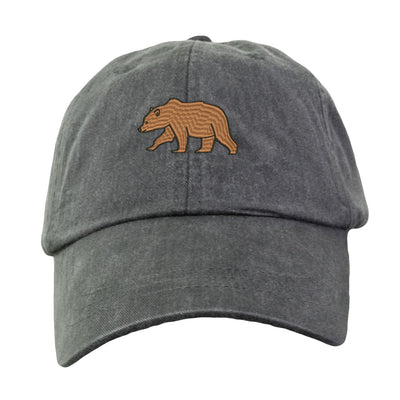 Brown Bear Hat - Embroidered. Embroidered Brown Bear Hat. Adjustable Leather Strap. More Colors Avail. HER-LP101 - Whynotstopnshop.com
