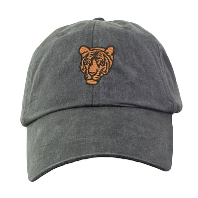 Bengal Tiger Hat - Embroidered. Bengal Tiger Hat.  Zoo Jungle Animal Hat. Adjustable Leather Strap. More Colors. HER-LP101 - Whynotstopnshop.com