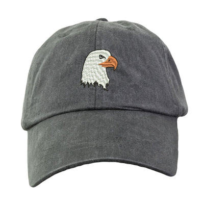 Eagle Head Hat - Embroidered. Eagle Cap.  Bird Hat Cap. Adjustable Leather Strap. More Colors. HER-LP101 - Whynotstopnshop.com