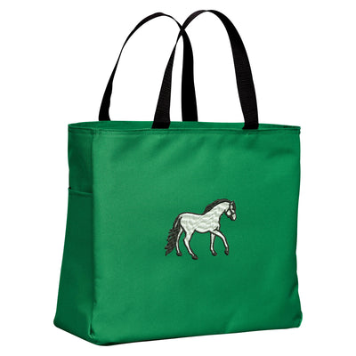 Horse Tote Bag. Embroidered Horse Tote. Horse Tote Bag. Market Tote. Shopping Horse Bag. Equestrian. SM-B0750 - Whynotstopnshop.com