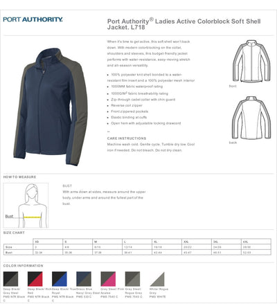 Chiropractor Embroidered Ladies Active Colorblock Soft Shell Jacket.. Personalized Full Zip Jacket. Chiropractor Coat. L718 - Whynotstopnshop.com