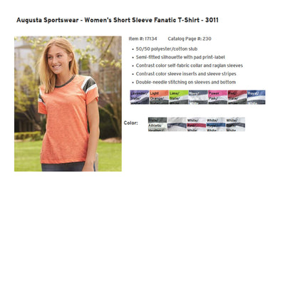 Monogram PAW  Stethoscope  Womens Shirt. Augusta Sportswear - Women's Short Sleeve Fanatic T-Shirt - 3011 - Whynotstopnshop.com
