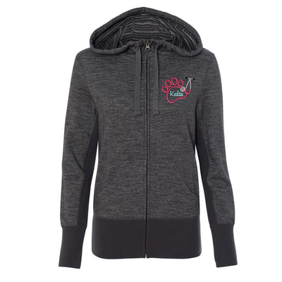 Monogram Paw  Stethoscope Womens Jacket. Independent Trading Co. - Women's Baja Stripe French Terry Hooded Full-Zip Sweatshirt - PRM655BZ. - Whynotstopnshop.com
