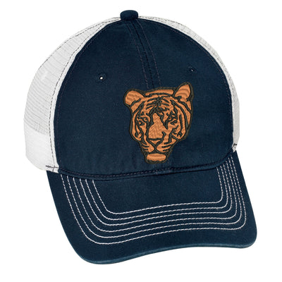 Bengal Tiger Embroidered Mesh Back Hat.   - Mesh Back.  Embroidered Baseball Hat - Mesh Back.  Trucker Hat. Trucker Hat. DT607 - Whynotstopnshop.com