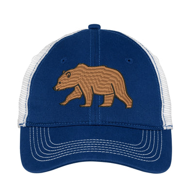 Brown Bear  Embroidered Mesh Back Hat.   - Mesh Back.  Embroidered Baseball Hat - Mesh Back.  Embroidered Trucker Hat. Trucker Hat. DT607 - Whynotstopnshop.com