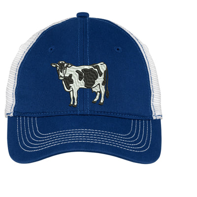 Holstein Cow Embroidered Mesh Back Hat.   - Mesh Back.  Embroidered Baseball Hat - Mesh Back.  Trucker Hat. Trucker Hat. DT607 - Whynotstopnshop.com