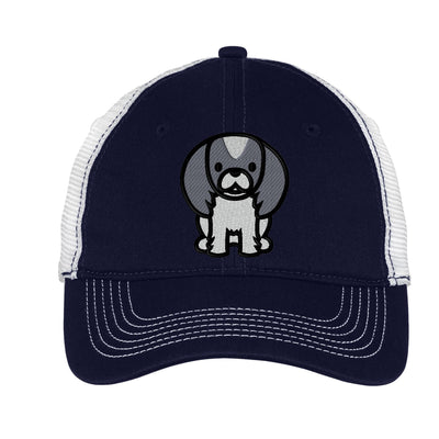 Cartoon Pekingese Mesh Back Hat.  Embroidered Pekingese Hat  Embroidered Baseball Hat  Embroidered Pekingese Trucker Hat. Trucker Hat. DT607 - Whynotstopnshop.com