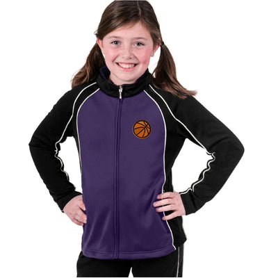 Basketball Youth Monogram  Girls' Olympian Jacket. Custom Monogram Jacket. 4984. - Whynotstopnshop.com