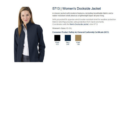 Monogram Women's Dockside Jacket. Monogrammed Dockside Jacket. Womens Custom Jacket. Womens Dockside Jacket. CR: 5713. - Whynotstopnshop.com