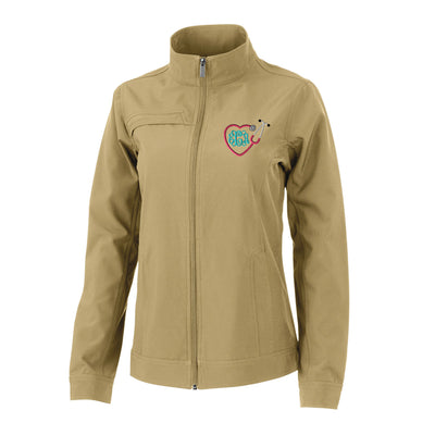 Heart Stethoscope Womens Dockside Jacket. Monogram Womens Dockside Jacket. Custom Nurse Jacket. Monogrammed womens jacket. CR: 5713 - Whynotstopnshop.com