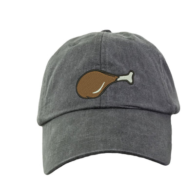 Chicken Leg - Embroidered Cap Baseball Hat. Adjustable Leather Strap. 15 Colors Avail. HER-LP101 - Whynotstopnshop.com