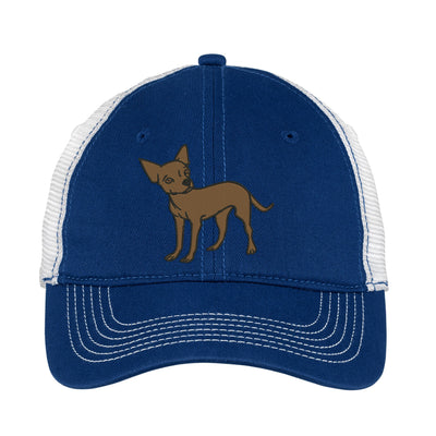 Chihuahua Embroidered Mesh Back Hat.   - Mesh Back.  Embroidered Baseball Hat - Mesh Back.  Embroidered Trucker Hat. Trucker Hat. DT607 - Whynotstopnshop.com