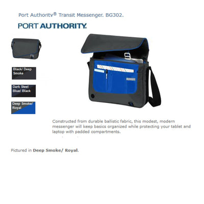 Monogram Port Authority® Transit Messenger. BG302. - Whynotstopnshop.com