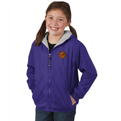Basketball  Embroidered Youth Jacket.  8921 | Youth Performer Jacket. - Whynotstopnshop.com