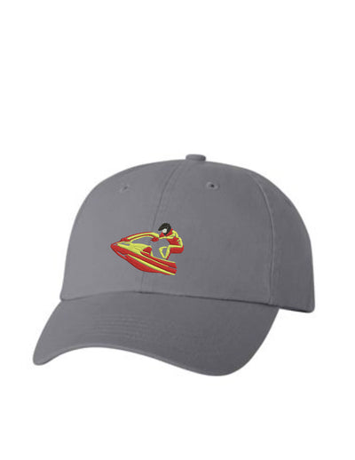 Jet Ski Embroidered Hat Unisex.  Water Sports Embroidered Hat. Embroidered Baseball Cap. Adjustable With Tri-Glide Buckle. 36 Colors. VC300A - Whynotstopnshop.com