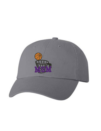 Basketball Mom Embroidered Hat Unisex. Sports Embroidered Hat. Embroidered Baseball Cap. Adjustable With Tri-Glide Buckle. 36 Colors. VC300A - Whynotstopnshop.com