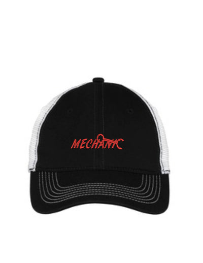 Mechanic Mesh Back Hat.   - Baseball Mesh Back. Mechanic Embroidered Trucker Hat. Trucker Hat. DT607 - Whynotstopnshop.com
