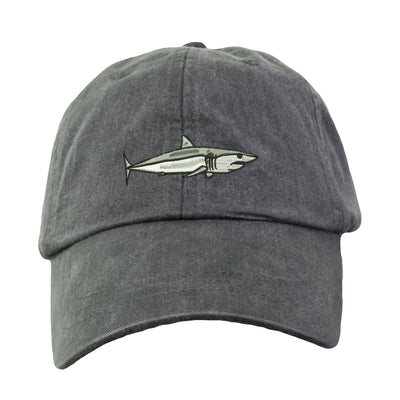 Mako Shark Embroidered  Baseball Hat. Cool Mesh Lining & Adjustable Strap. 33 Colors Avail. HER-LP101 - Whynotstopnshop.com