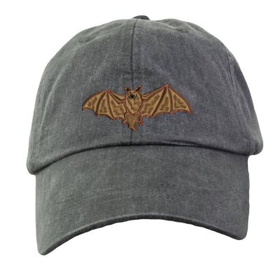 Bat Embroidered  Baseball Hat. Cool Mesh Lining & Adjustable Strap. 33 Colors Avail. HER-LP101 - Whynotstopnshop.com