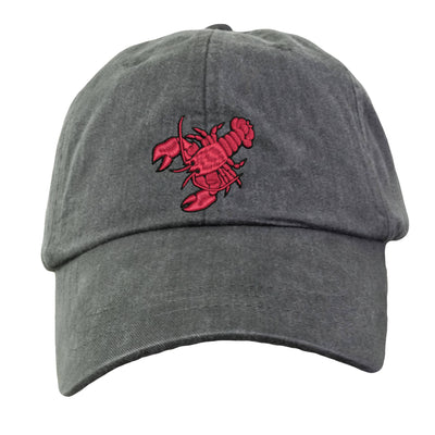 Maine Lobster Baseball Hat - Embroidered.  Maine Lobster Cap.  Lobster Gifts. Lobster Beach Hat. Mesh Lining & Adjustable Strap. HER-LP101 - Whynotstopnshop.com