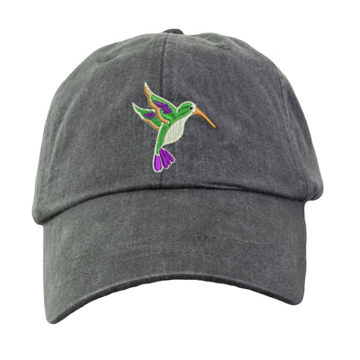 Hummingbird Embroidered  Baseball Hat. Cool Mesh Lining & Adjustable Strap. 33 Colors Avail. HER-LP101 - Whynotstopnshop.com