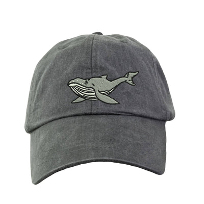 Humpback Whale Embroidered  Baseball Hat. Cool Mesh Lining & Adjustable Strap. 33 Colors Avail. HER-LP101 - Whynotstopnshop.com
