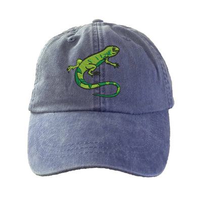 Iguana Lizard Baseball Hat - Embroidered. Unisex Iguana Baseball Hat Cap. Igunana Gifts. Igunana Hats. Adjustable Strap. HER-LP101 - Whynotstopnshop.com