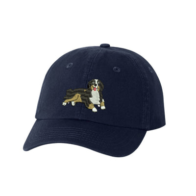 Bernese Mountain Dog Breed  Embroidered Hat Unisex  Embroidered Hat Baseball Cap.  Adjustable With Tri-Glide Buckle. 36 Colors. VC300A - Whynotstopnshop.com