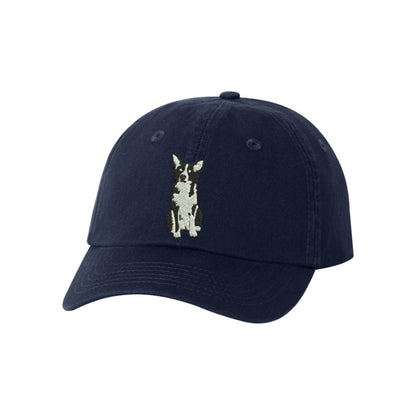 Border Collie Dog Breed  Embroidered Hat Unisex  Embroidered Hat Baseball Cap.  Adjustable With Tri-Glide Buckle. 36 Colors. VC300A - Whynotstopnshop.com