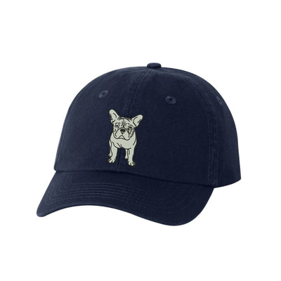 French Bulldog Breed  Embroidered Hat Unisex  Embroidered Hat Baseball Cap.  Adjustable With Tri-Glide Buckle. 36 Colors. VC300A - Whynotstopnshop.com